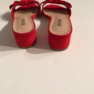 5a21c059d JustFab Shoes - JustFab Etna Bow Top Slip On Mule Faux Suede Shoe